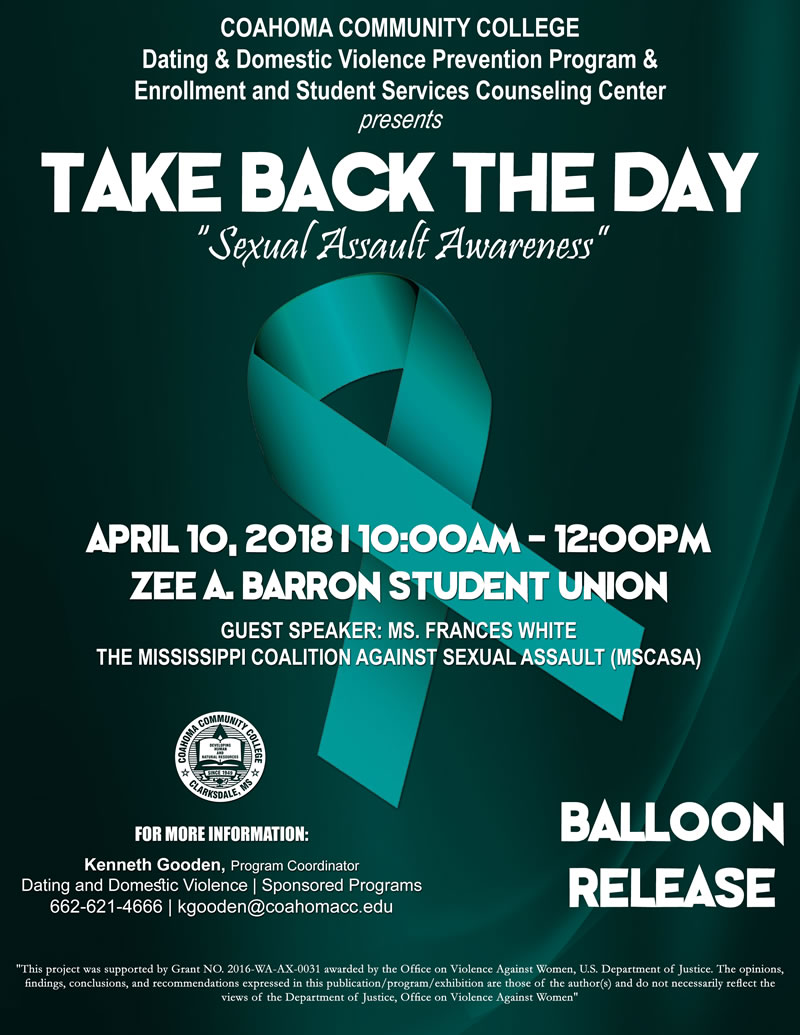 Take Back the Day - Sexual Assault Awareness