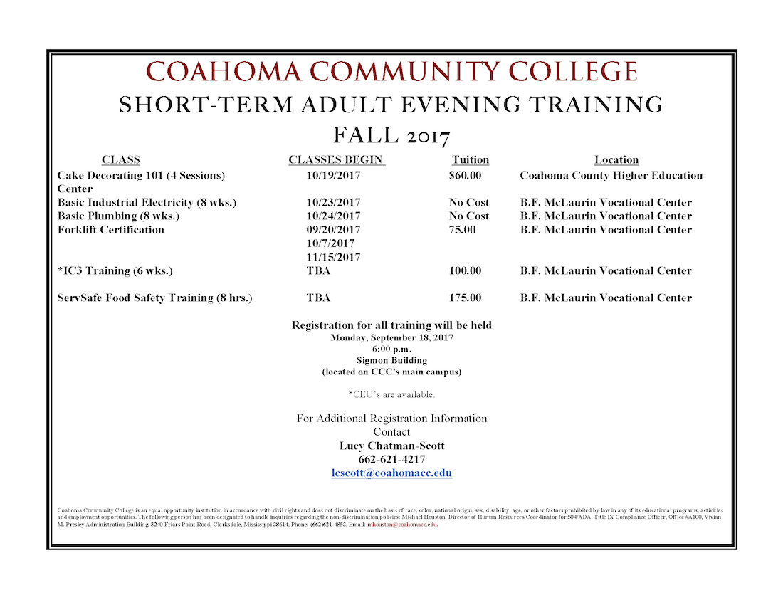 Community Trainings Now Available At Ccc