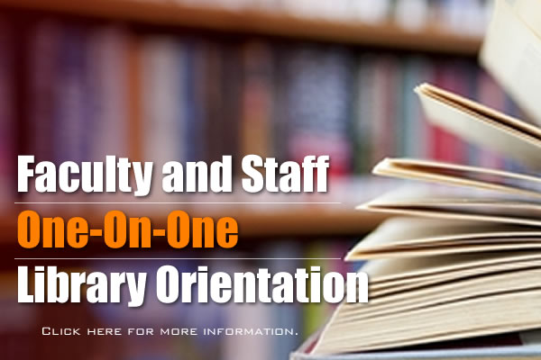 One-On-One Library Orientation