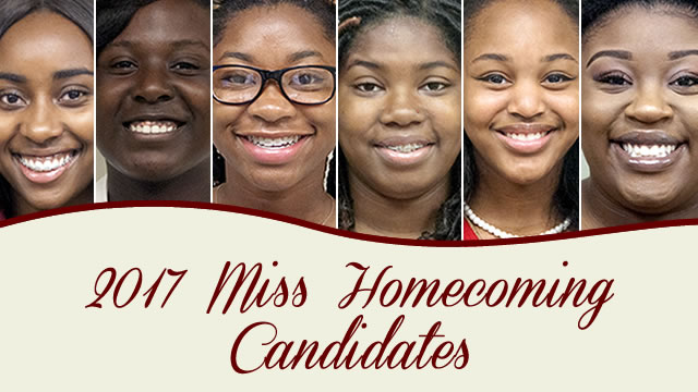 2017 Miss Homecoming Candidates